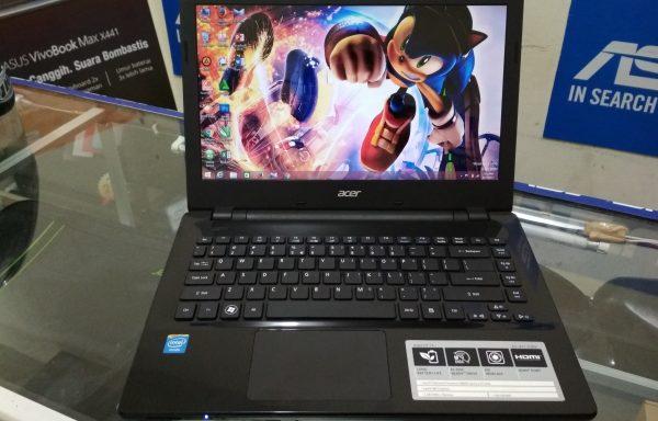 Laptop Acer E5-411 Intel Celeron N2830 Ram 2GB Baterei Awet (LAKU)