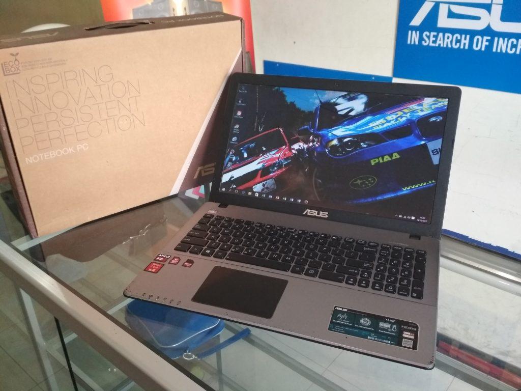 Laptop Gaming Asus X550ze Amd A10 7400 Dual Vga R6 Dan R7 1tb Fullset Laku Toko Jual Beli Laptop Bekas Dan Kamera Bekas Kota Malang